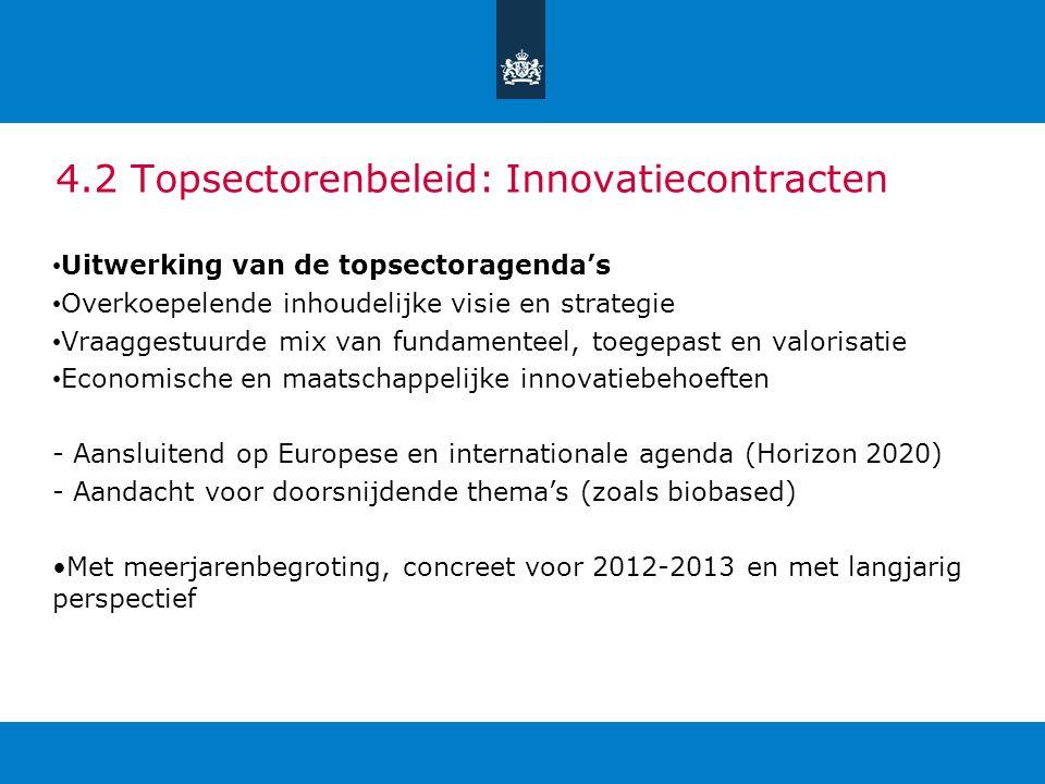 4.2 Topsectorenbeleid: Innovatiecontracten
