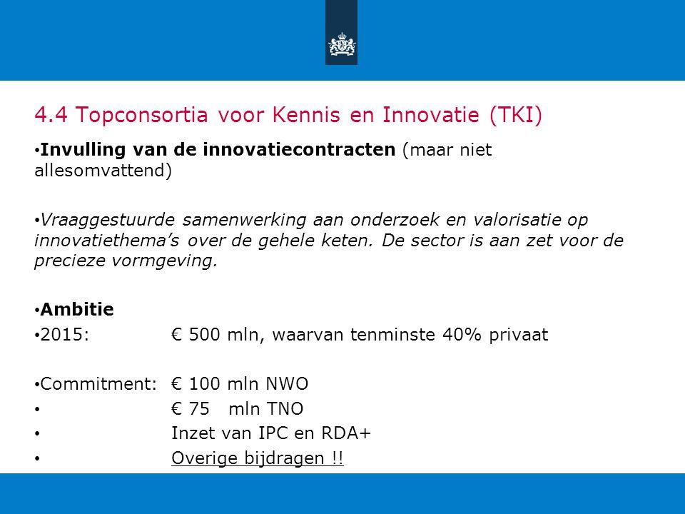 4.4 Topconsortia voor Kennis en Innovatie (TKI)