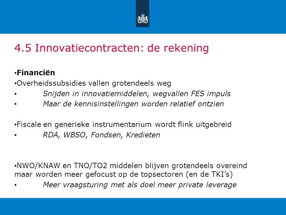 4.5 Innovatiecontracten: de rekening