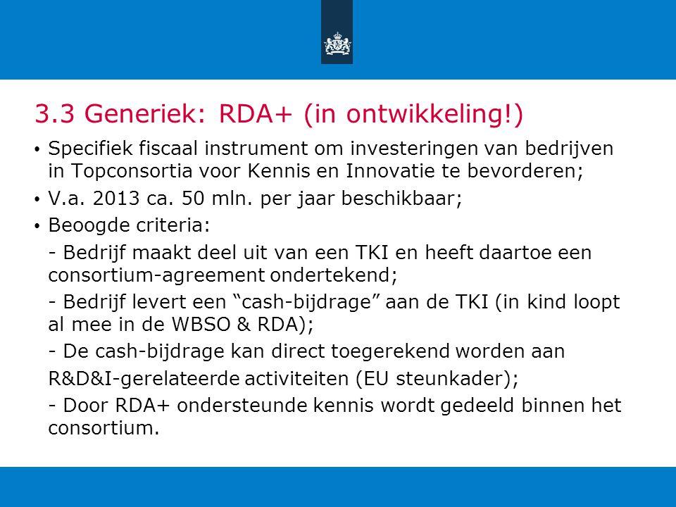 3.3 Generiek: RDA+ (in ontwikkeling!)