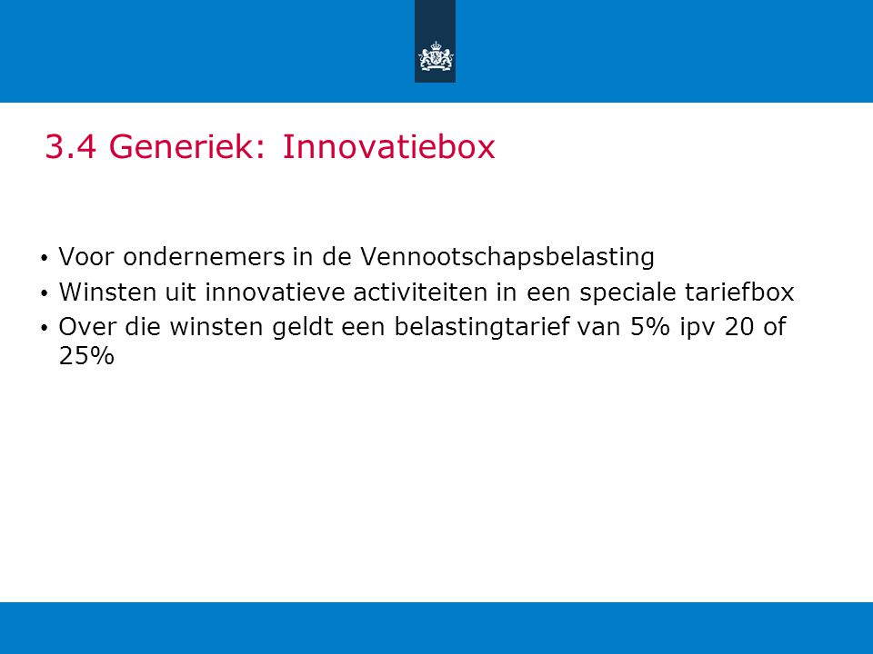 3.4 Generiek: Innovatiebox