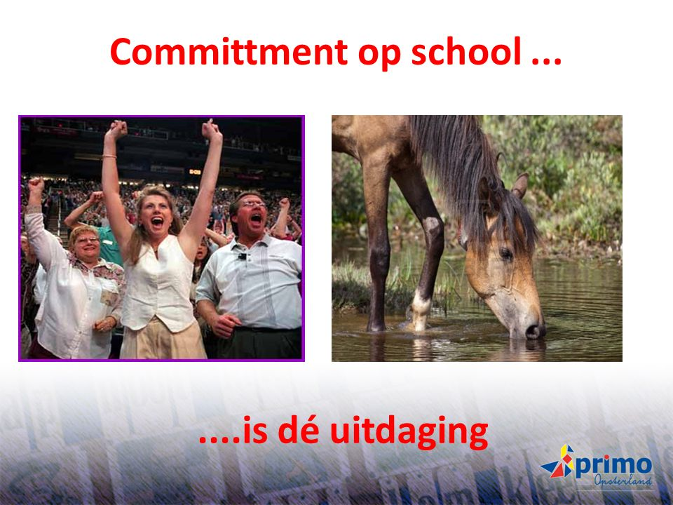 Committment op school ... ....is dé uitdaging