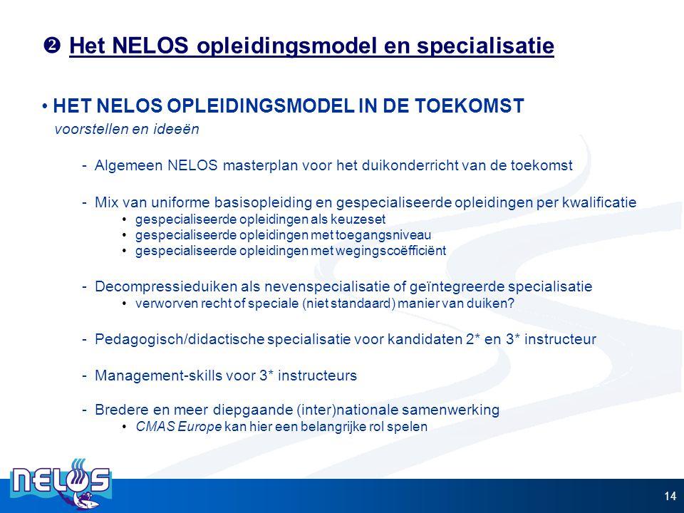 Het NELOS opleidingsmodel en specialisatie