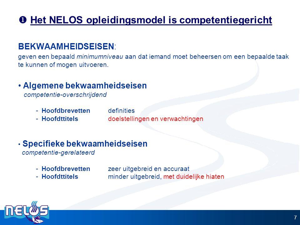Het NELOS opleidingsmodel is competentiegericht