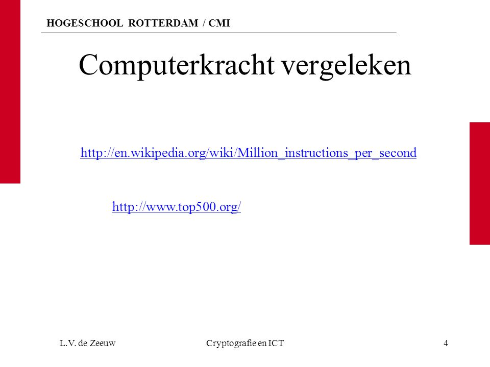 Computerkracht vergeleken