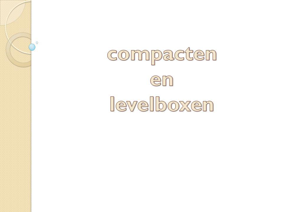 compacten en levelboxen