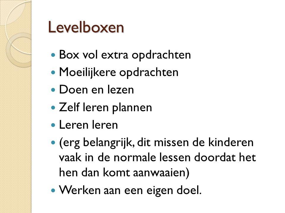 Levelboxen Box vol extra opdrachten Moeilijkere opdrachten