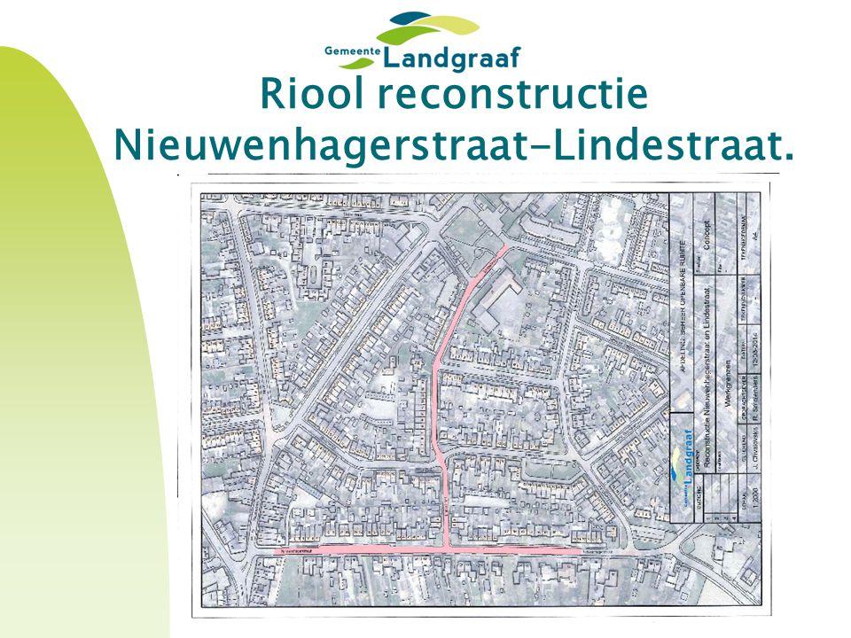 Riool reconstructie Nieuwenhagerstraat-Lindestraat.