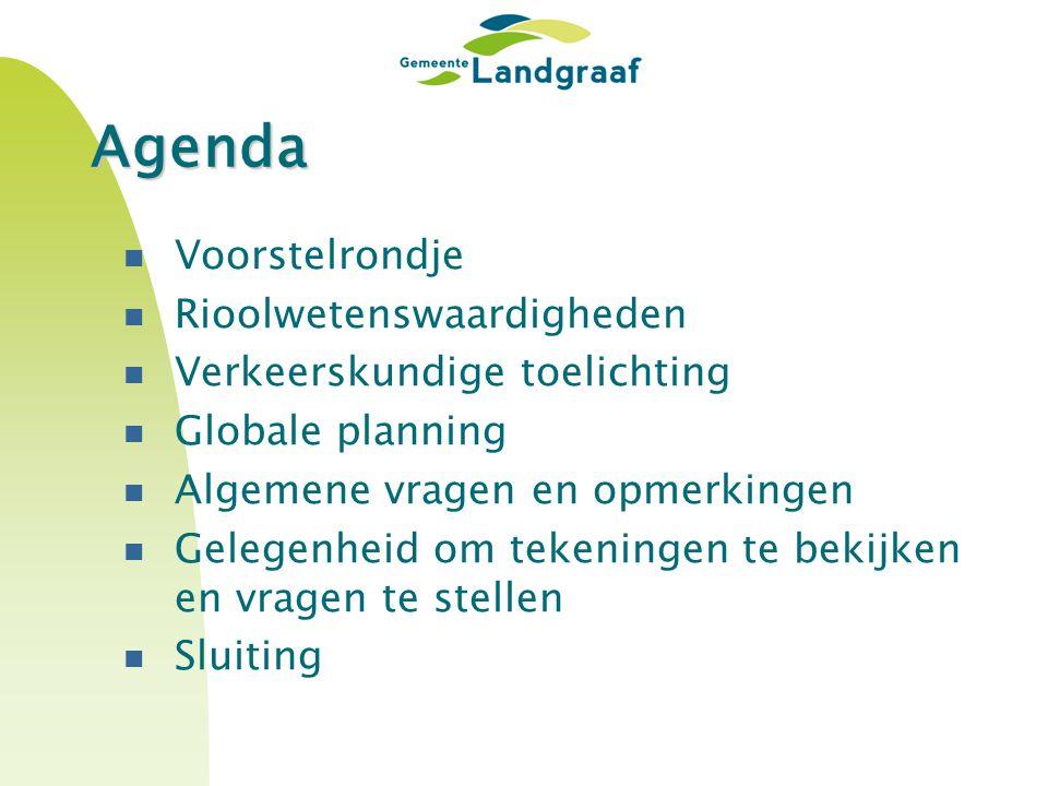Agenda Voorstelrondje Rioolwetenswaardigheden