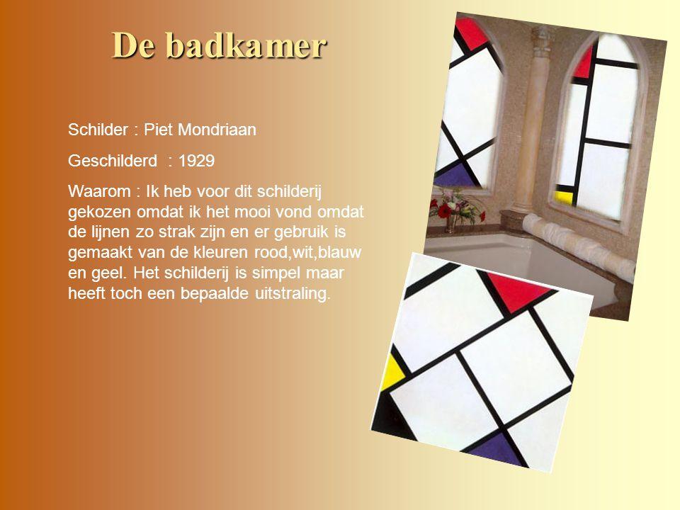De badkamer Schilder : Piet Mondriaan Geschilderd : 1929