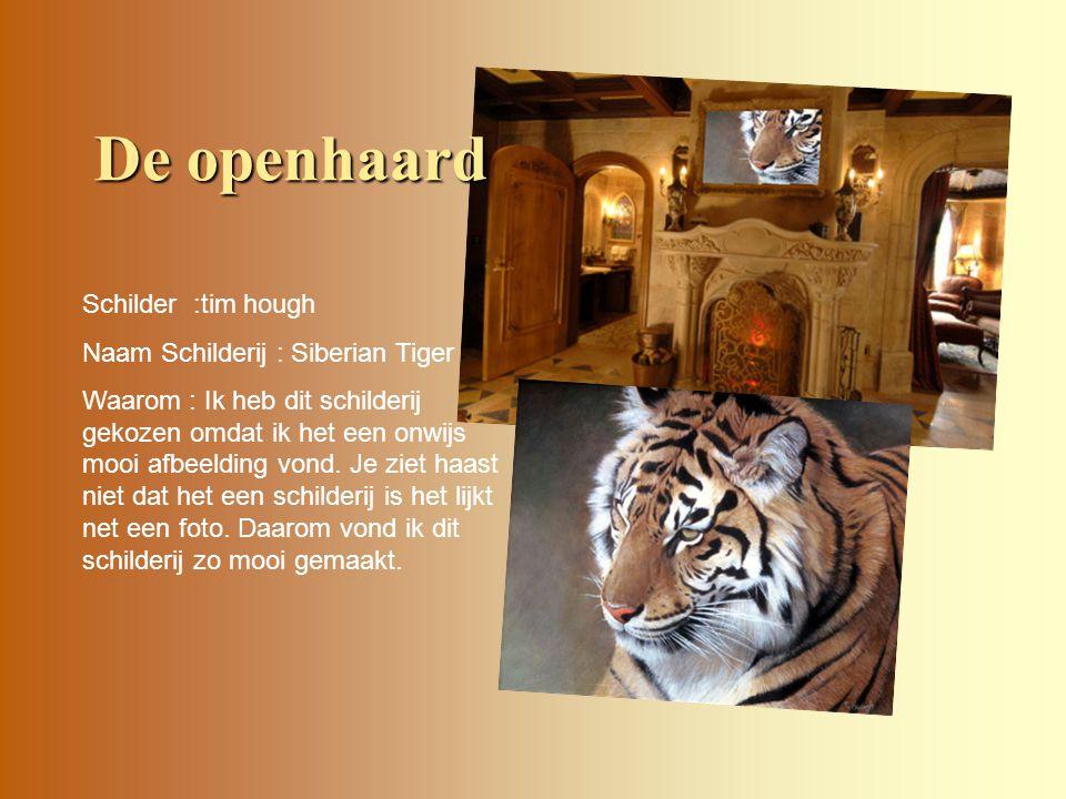 De openhaard Schilder :tim hough Naam Schilderij : Siberian Tiger