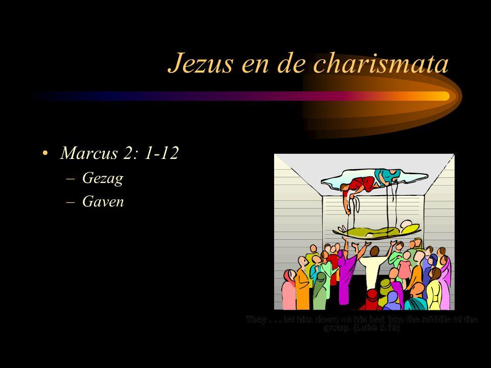 Jezus en de charismata Marcus 2: 1-12 Gezag Gaven