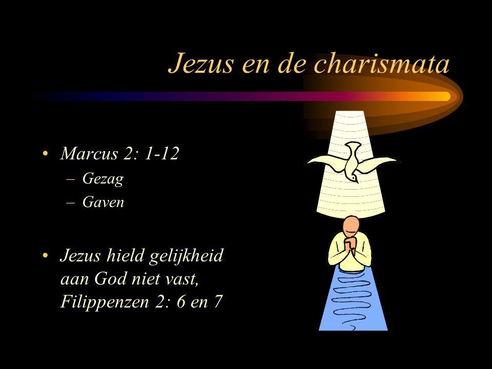 Jezus en de charismata Marcus 2: 1-12