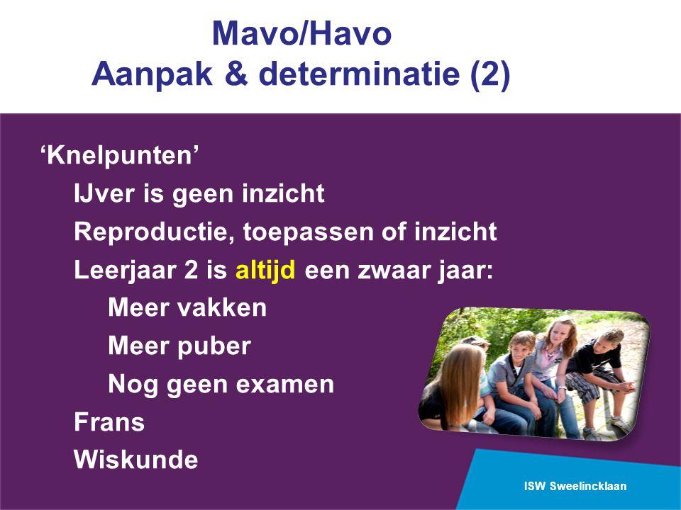 Mavo/Havo Aanpak & determinatie (2)