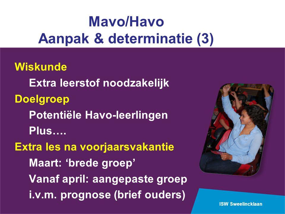 Mavo/Havo Aanpak & determinatie (3)