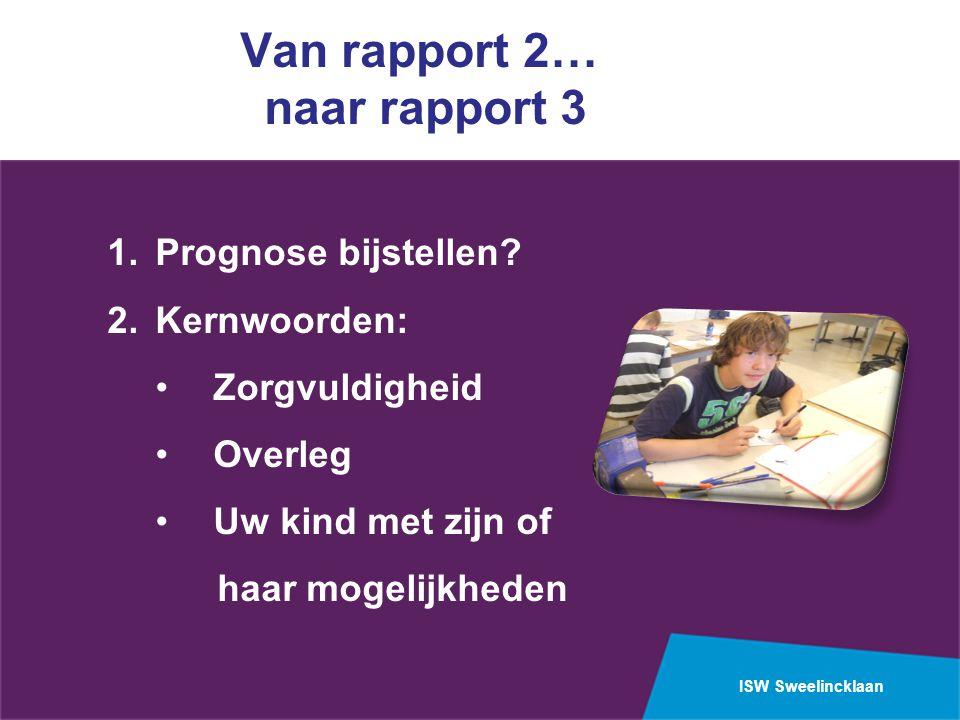 Van rapport 2… naar rapport 3