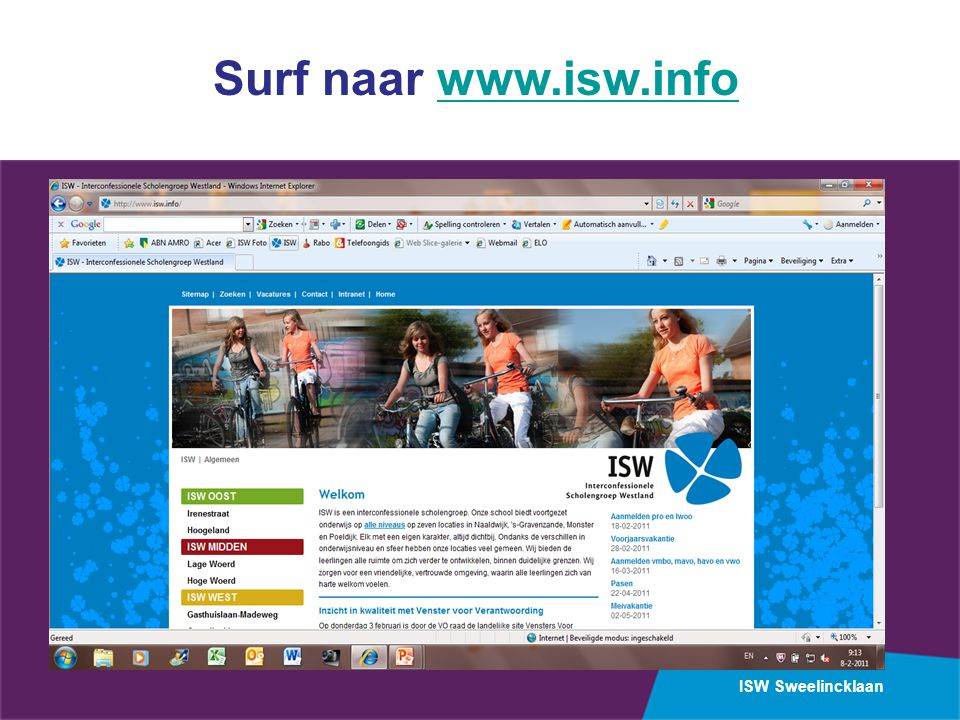Surf naar www.isw.info