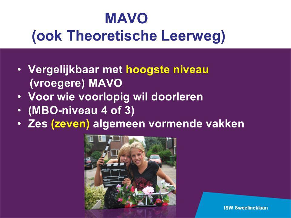MAVO (ook Theoretische Leerweg)