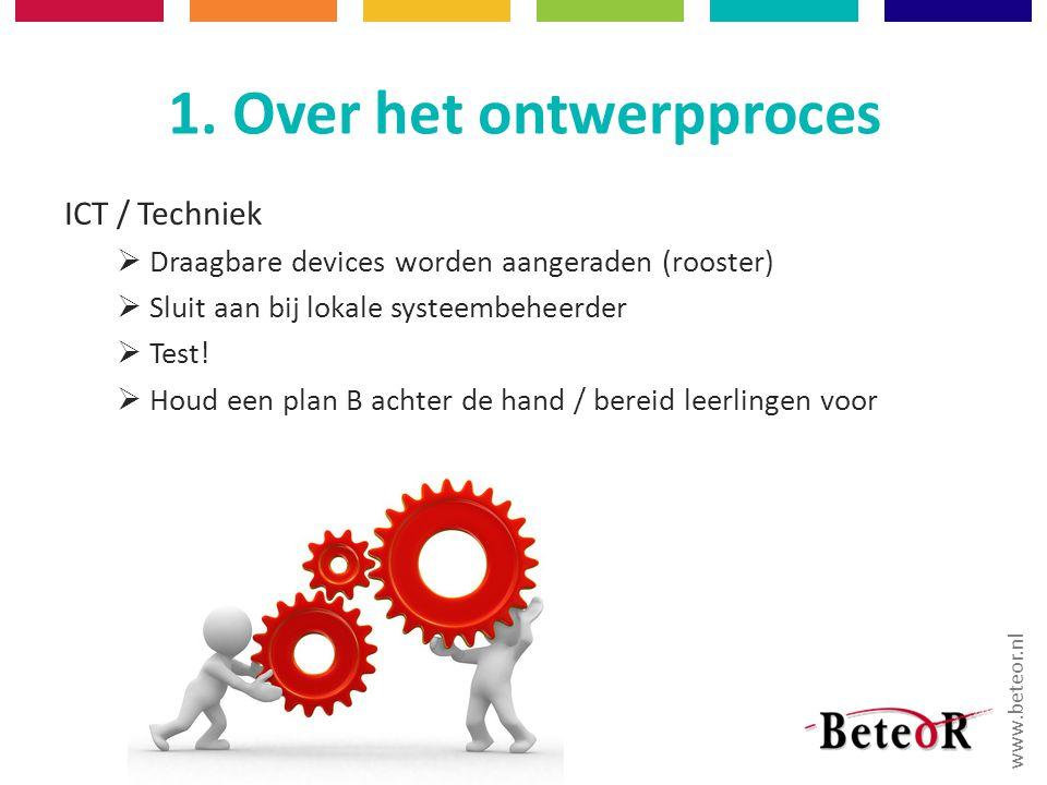 1. Over het ontwerpproces