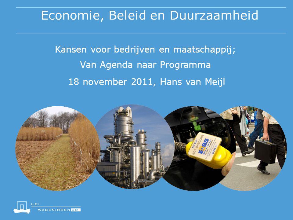 Economie, Beleid en Duurzaamheid