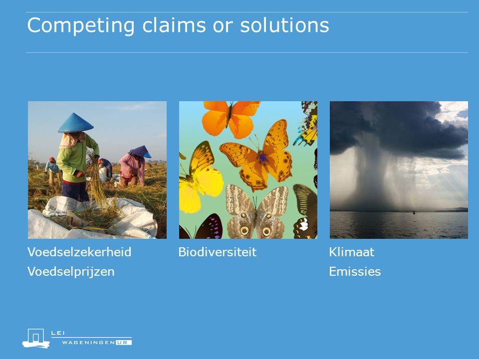 Competing claims or solutions