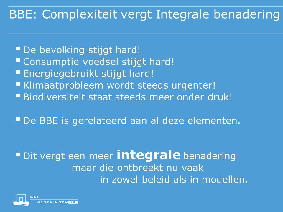 BBE: Complexiteit vergt Integrale benadering