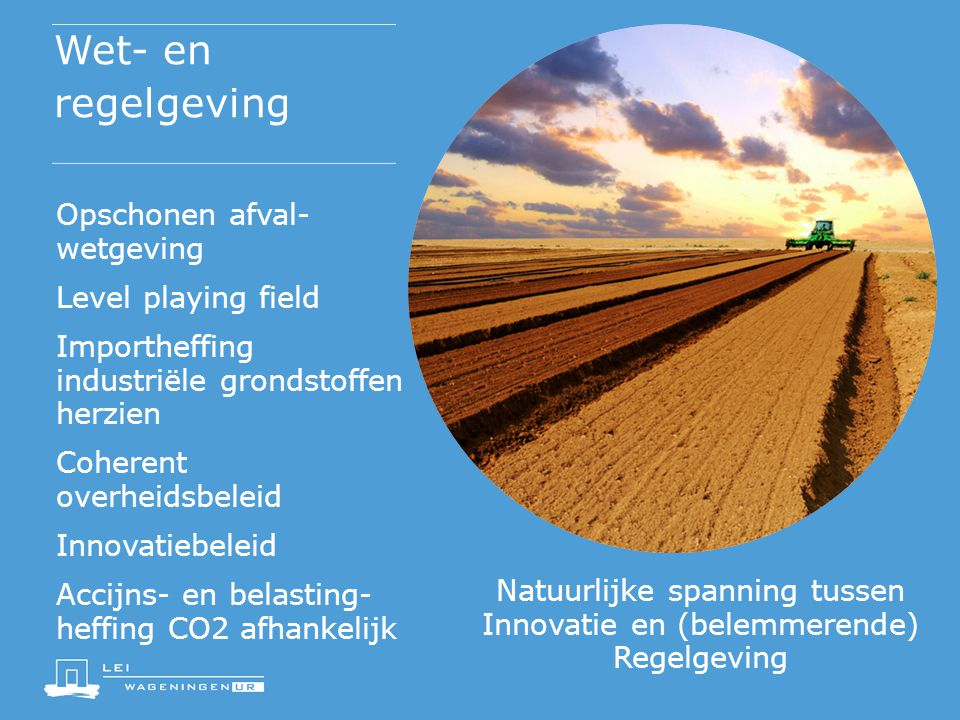 Natuurlijke spanning tussen Innovatie en (belemmerende) Regelgeving