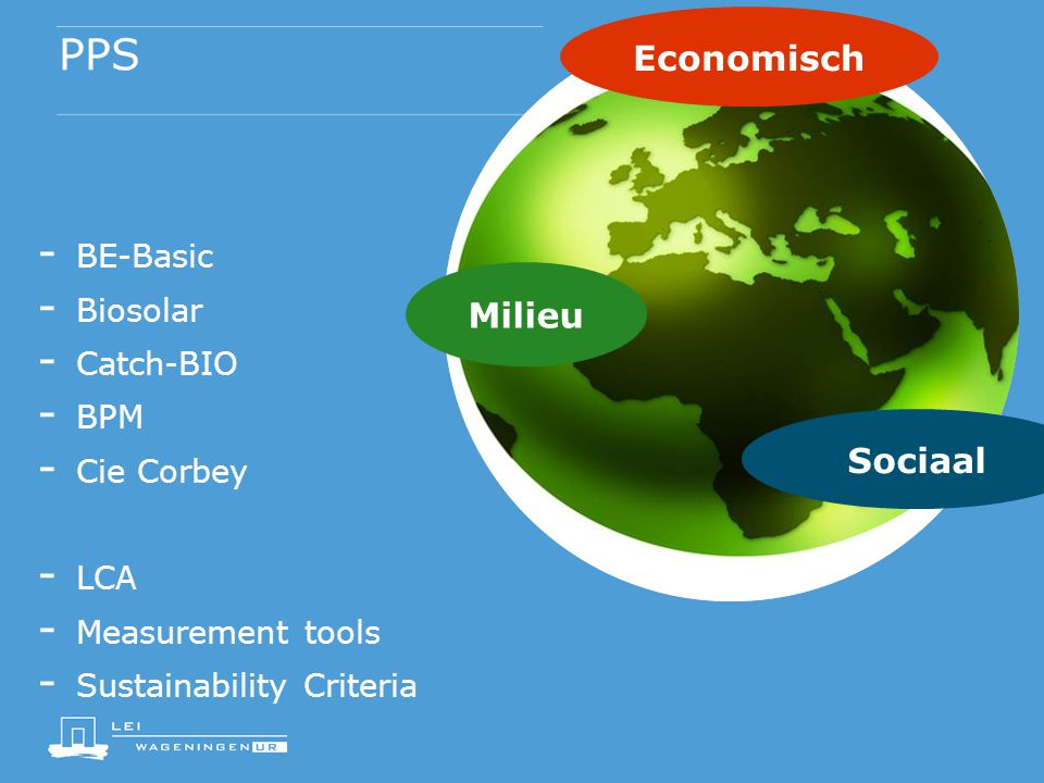 PPS Economisch Milieu Sociaal BE-Basic Biosolar Catch-BIO BPM