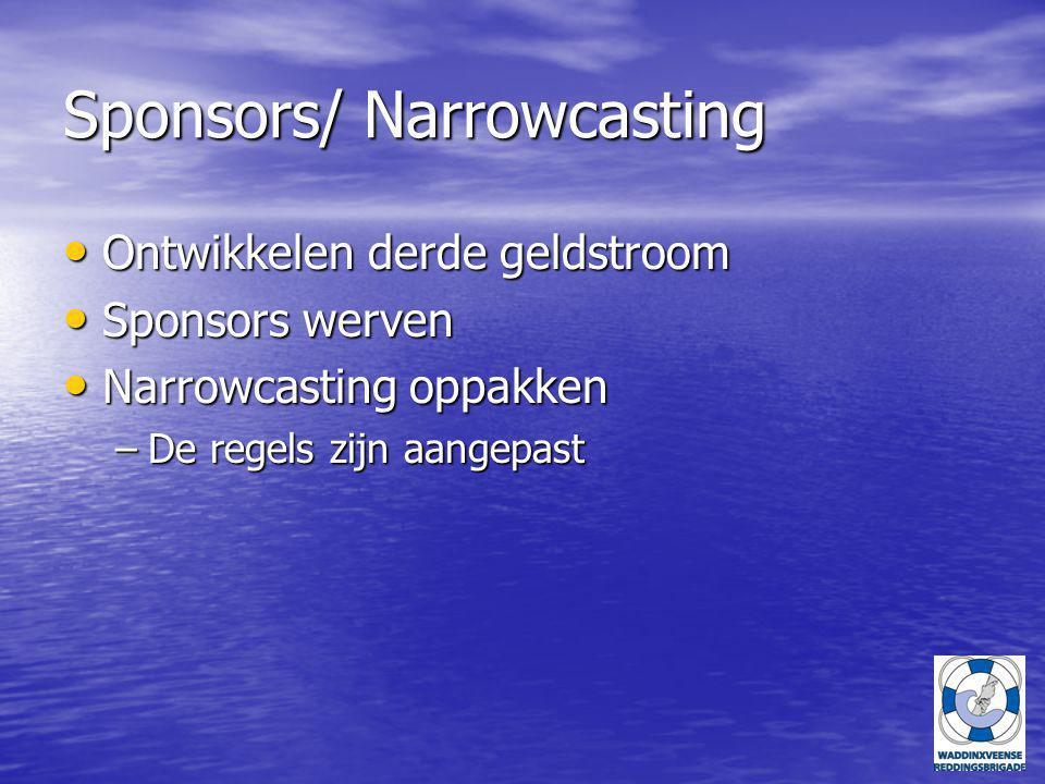 Sponsors/ Narrowcasting