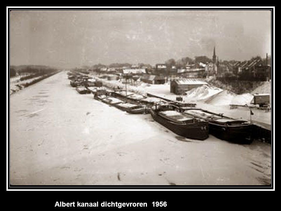 Albert kanaal dichtgevroren 1956