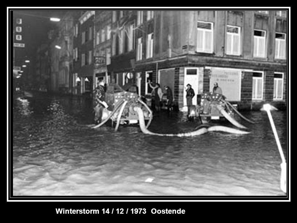 Winterstorm 14 / 12 / 1973 Oostende