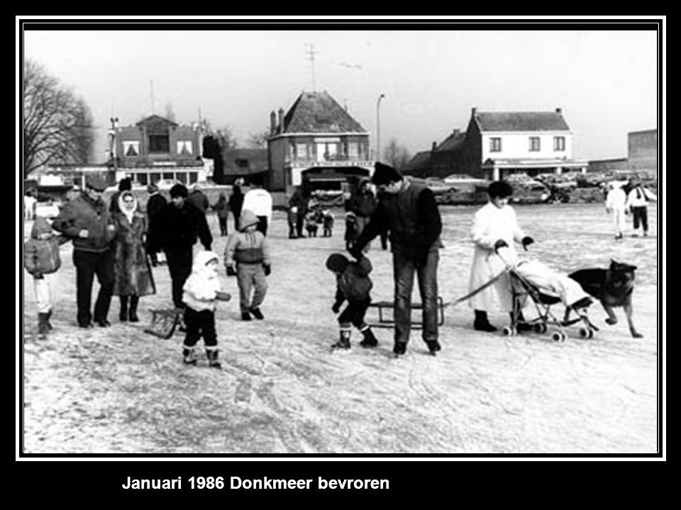 Januari 1986 Donkmeer bevroren