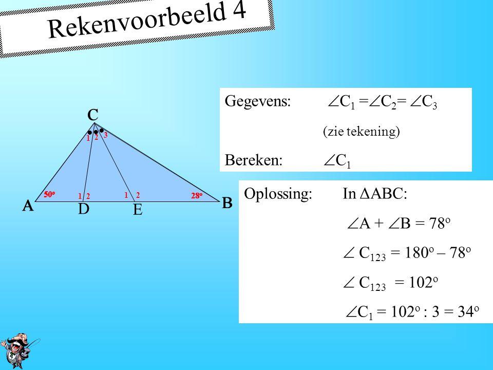 Rekenvoorbeeld 4 Gegevens: C1 =C2= C3 (zie tekening) Bereken: C1 E
