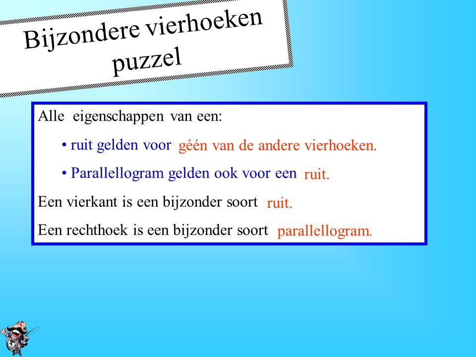 Bijzondere vierhoeken puzzel