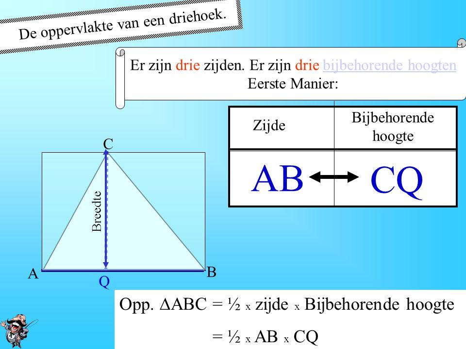 AB CQ De oppervlakte van een driehoek.