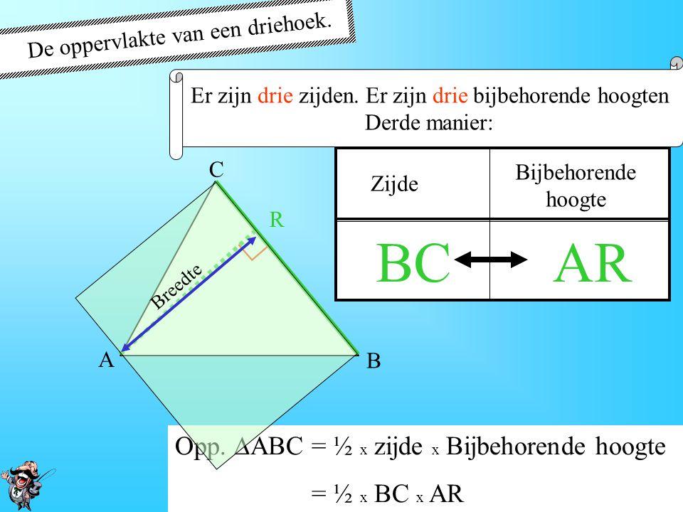 BC AR ∟ De oppervlakte van een driehoek.