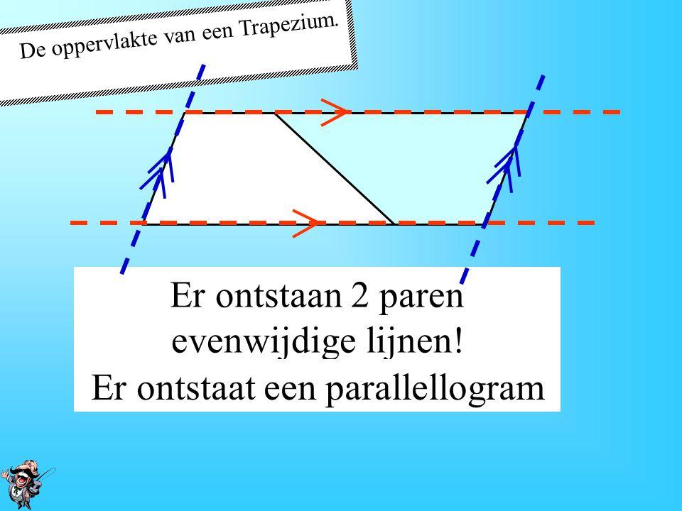 Er ontstaan 2 paren evenwijdige lijnen!