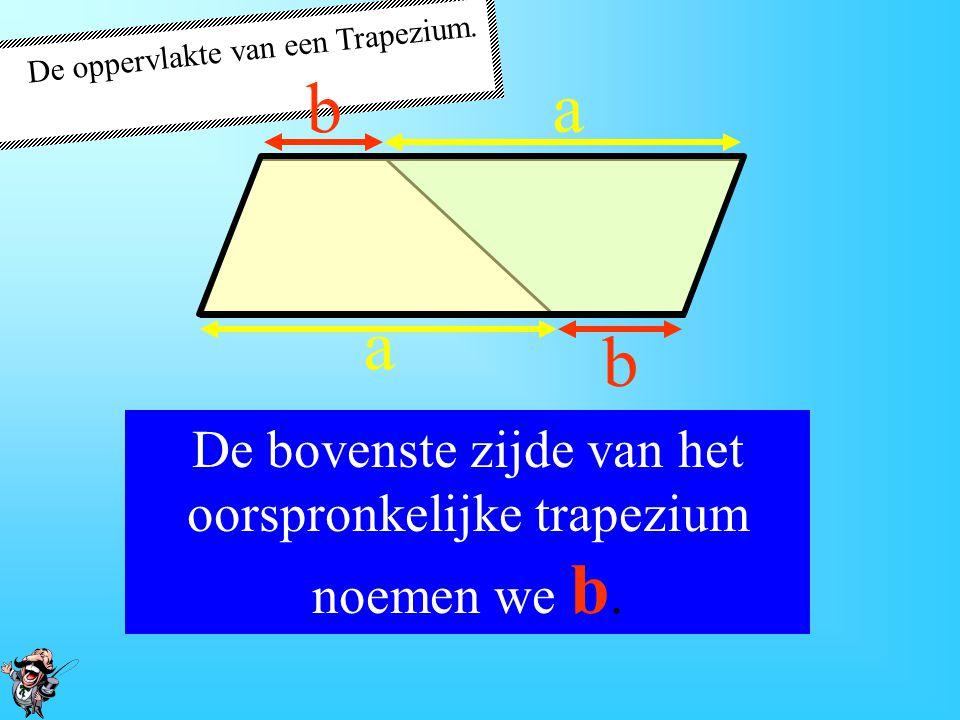 De oppervlakte van een Trapezium.