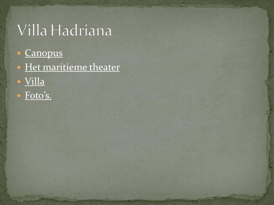 Villa Hadriana Canopus Het maritieme theater Villa Foto's.