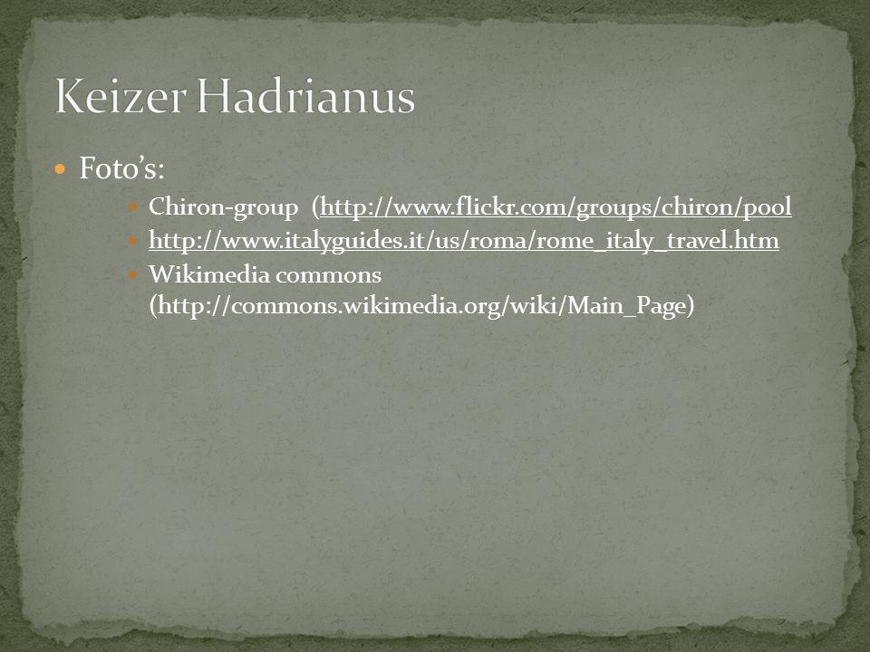 Keizer Hadrianus Foto's: