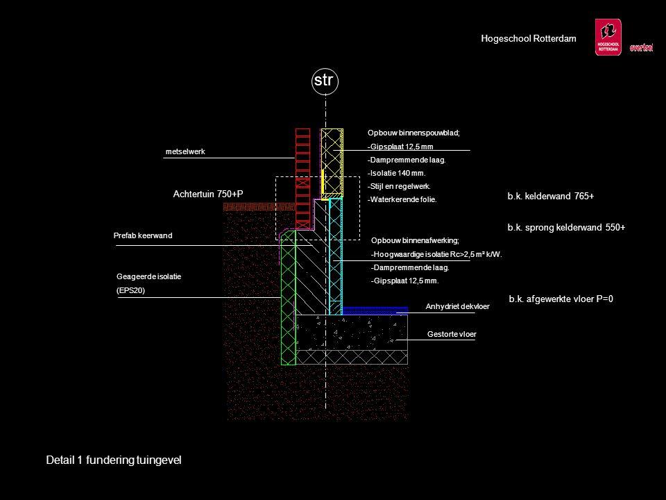 str Detail 1 fundering tuingevel Hogeschool Rotterdam Achtertuin 750+P