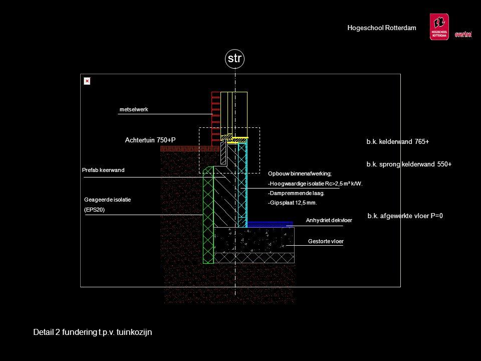 str Detail 2 fundering t.p.v. tuinkozijn Hogeschool Rotterdam