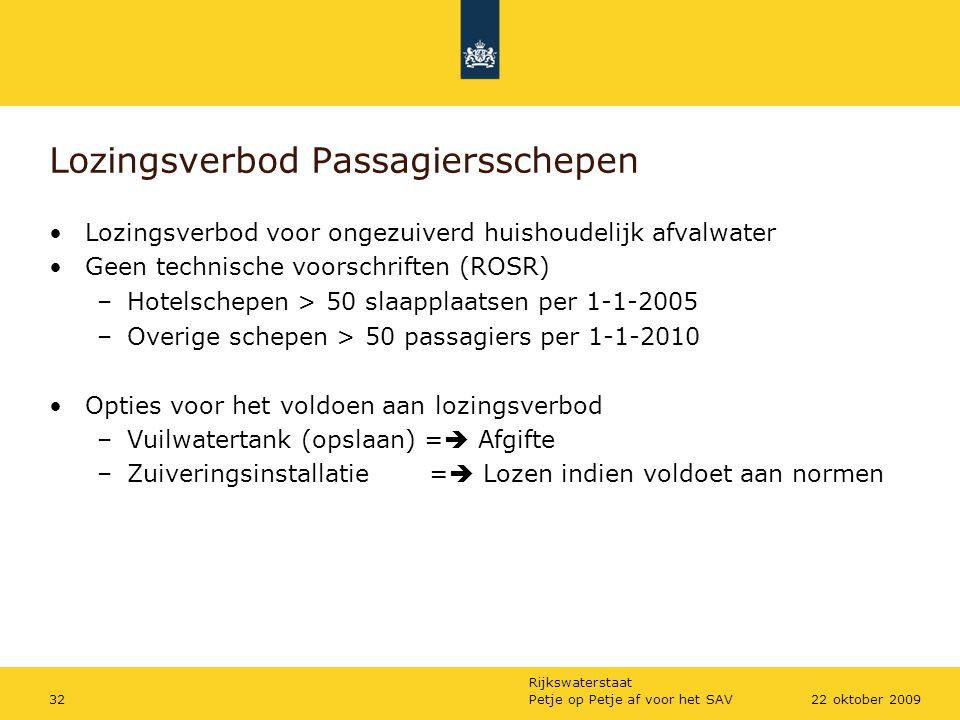 Lozingsverbod Passagiersschepen
