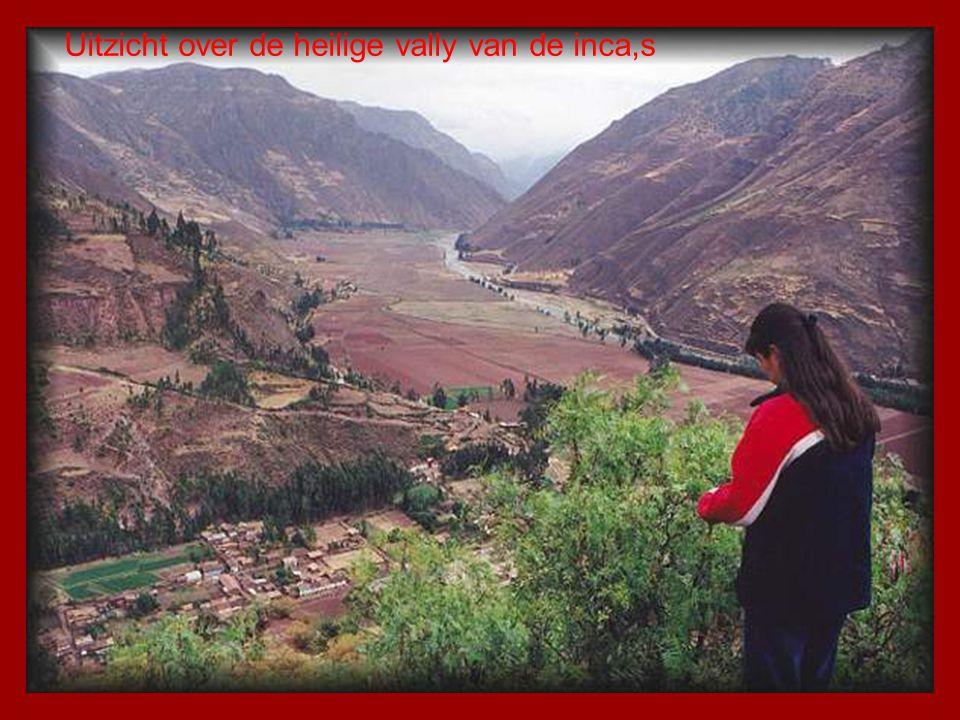 Uitzicht over de heilige vally van de inca,s