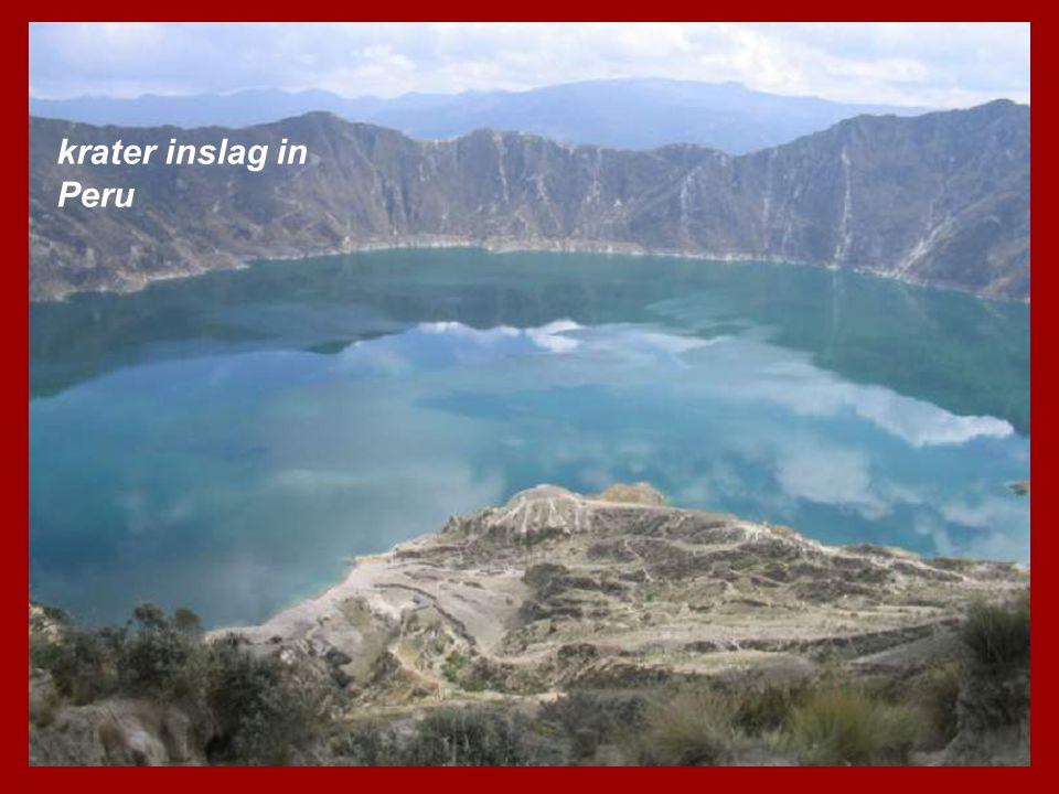 krater inslag in Peru