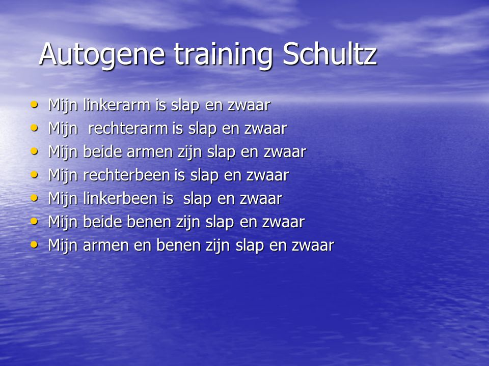 Autogene training Schultz