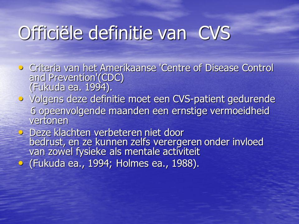 Officiële definitie van CVS