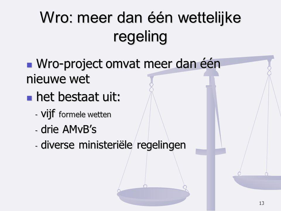 Wro: meer dan één wettelijke regeling