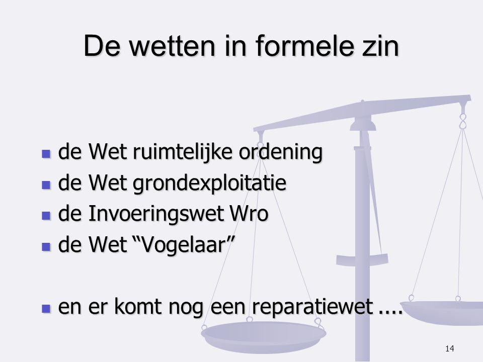 De wetten in formele zin