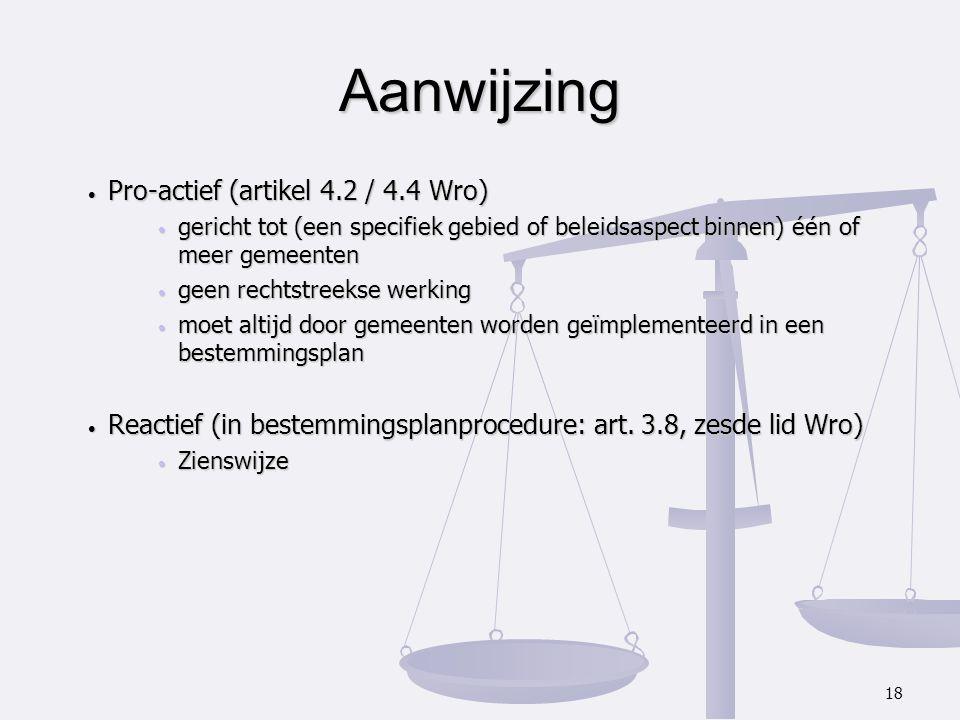 Aanwijzing Pro-actief (artikel 4.2 / 4.4 Wro)